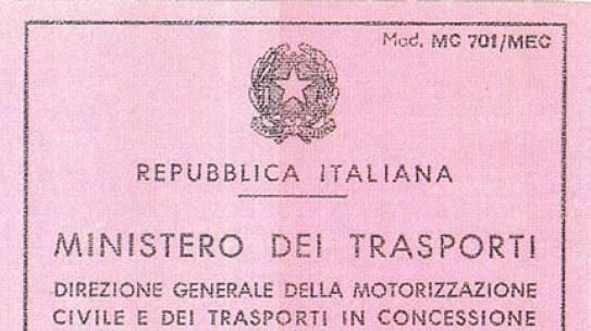 LA STORIA DELLE PATENTI DI GUIDA ITALIANE